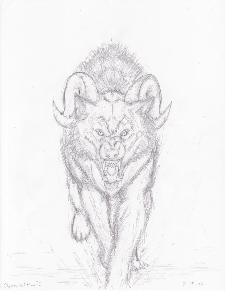 Hell Hound 1 Pencil by Steel-Raven