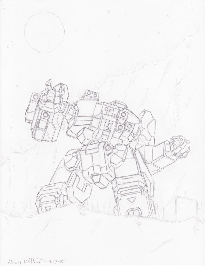 MWO Thunderbolt Sketch by Steel-Raven
