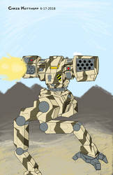 Argus Battlemech for CK16 MWO Art Contest by Steel-Raven