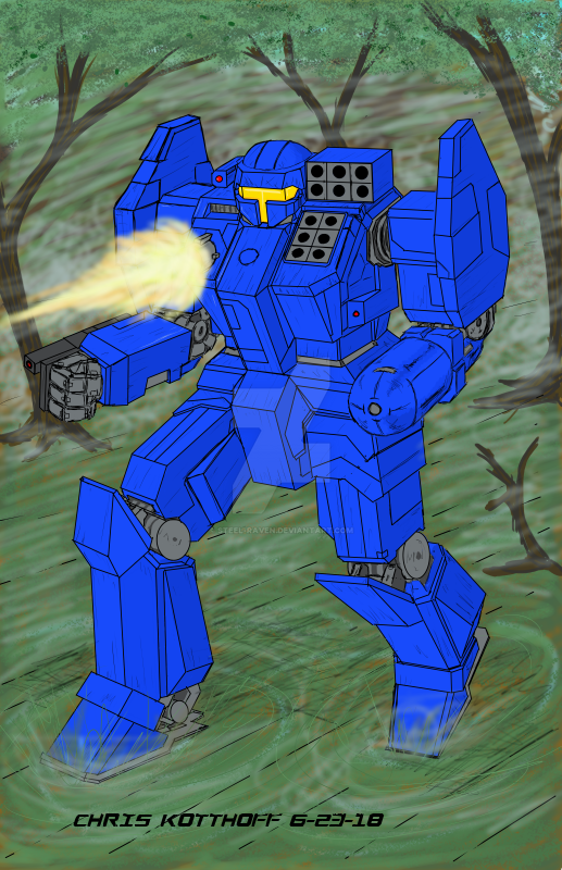 Charger Battlemech for CK16 MWO Art Contest by Steel-Raven
