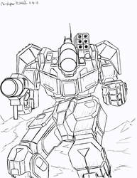 Battletech: Battlemaster BLR-1G by Steel-Raven