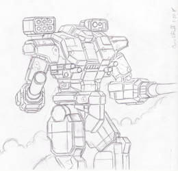 Battletech: Warhammer WHM-6R by Steel-Raven