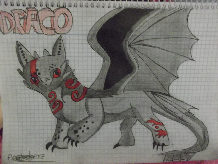 httyd oc draco by analuchera