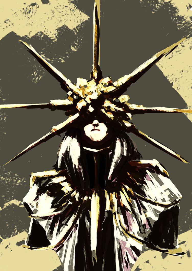 Warmup - Dark Sun Gwyndolin by pgeronimos