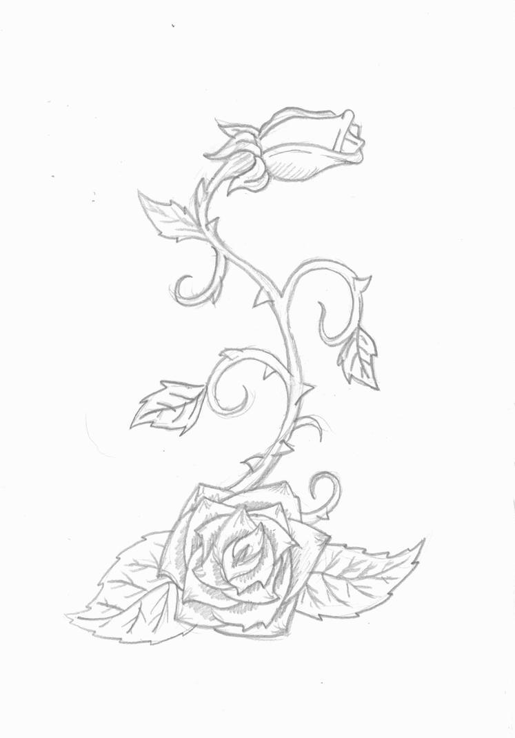 Rose vine tattoo by infinitedamnation on deviantart for Rose and vine tattoo