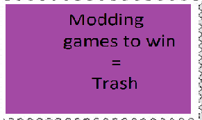 cheating = trash by darknessthehedgehog3