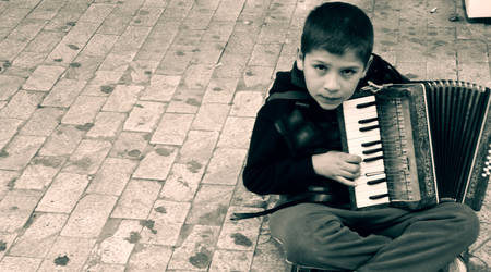Young musician. by HQheart