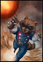 Rocket Raccoon By Flowcoma Colored
