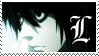 L Death Note Stamp by Neyjour