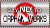 Say NO to Orphan Works Stamp by Neyjour