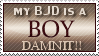 BJD Is a Boy Stamp by Neyjour