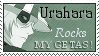 Urahara Rocks My Getas Stamp by Neyjour