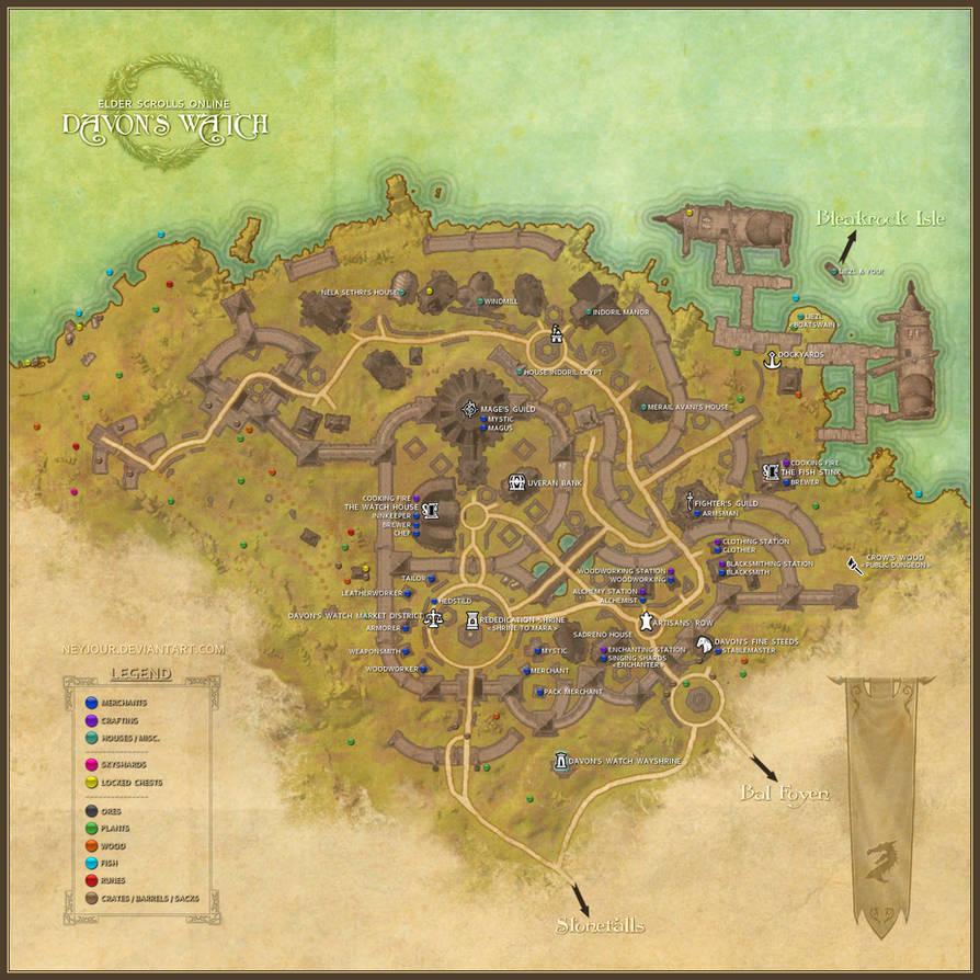 Davon\'s Watch Map - ESO by Neyjour on DeviantArt