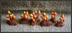 Toothpick Mushrooms