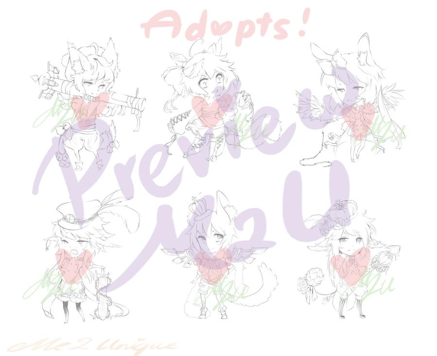 Kemonomimi Adopts Preview! by Me2Unique