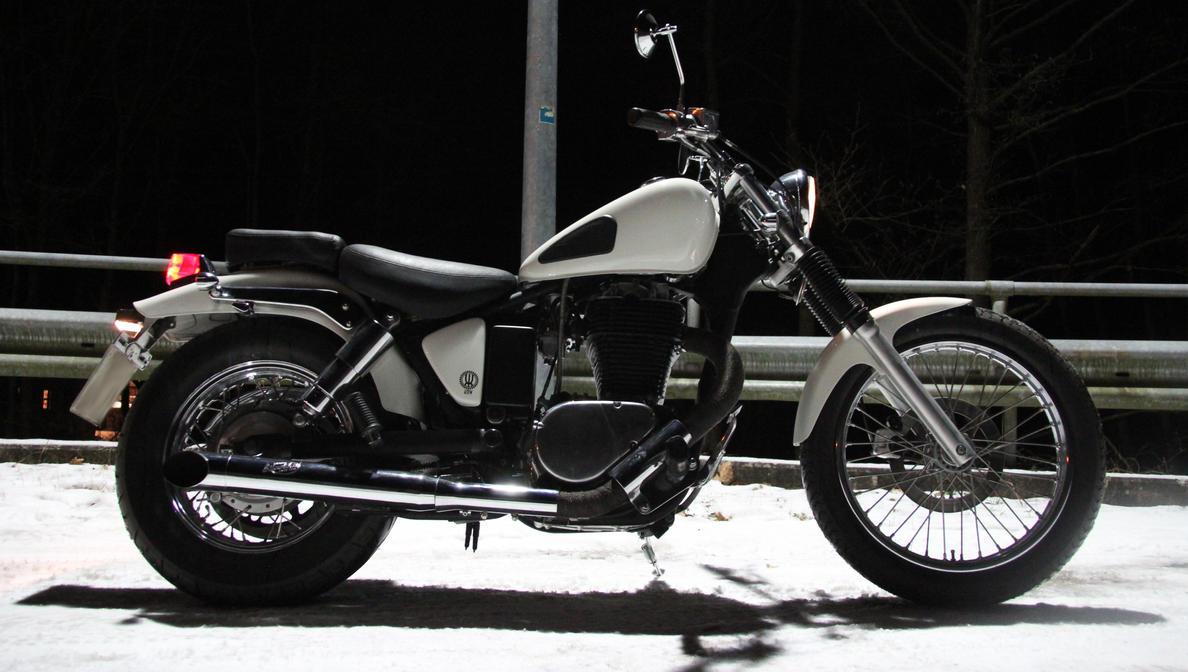 Suzuki LS650 Savage KMW Custom -Schneewittchen- #5 by ScotchMacManus