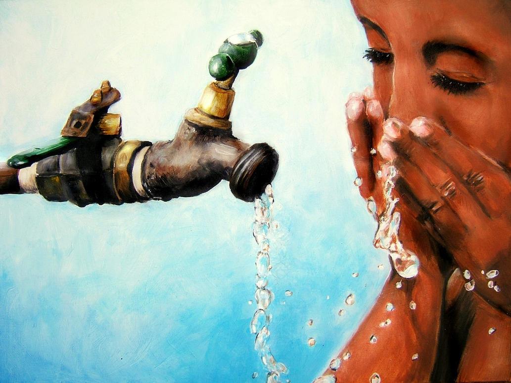 Drinking Water by kellymareille