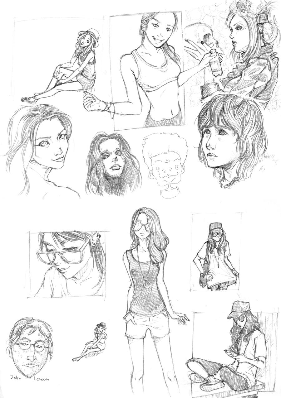 Study photo sketches by baranot3nshi
