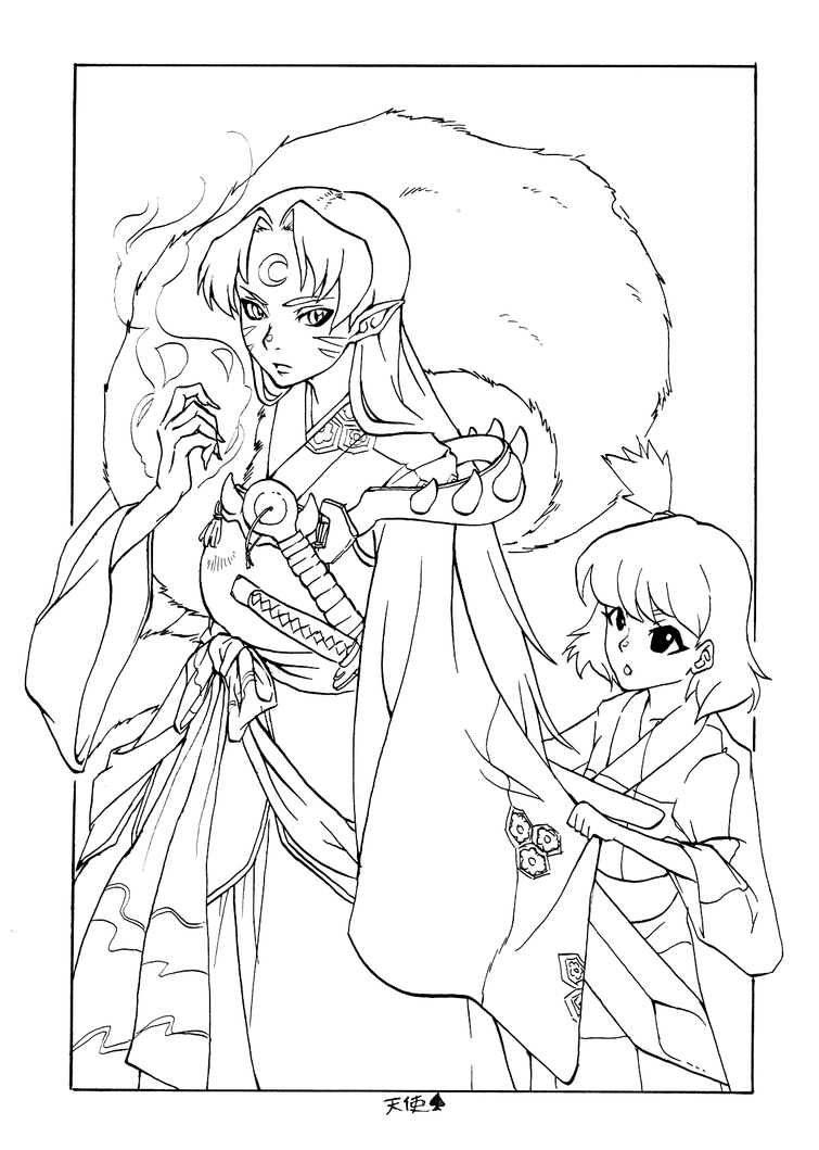 sesshoumaru coloring pages - photo#27