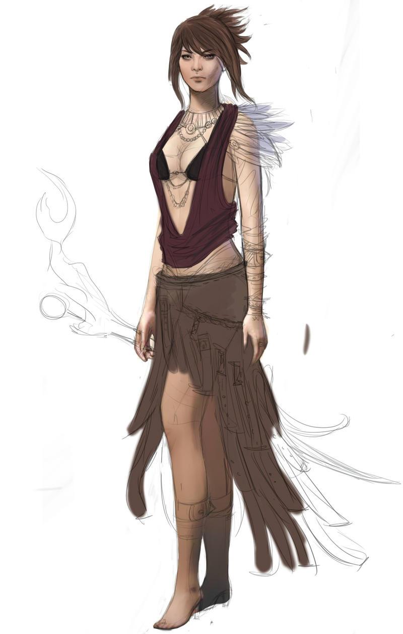 Dragon age Morrigan WIP by Alexandra-Haynes