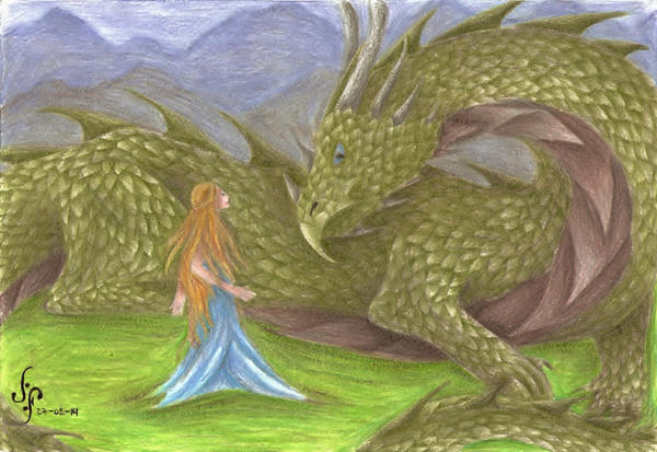 Glaurung and Nienor by Love-Only-Knows