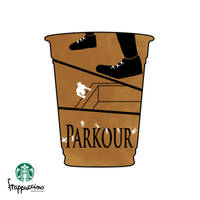Parkour after a Frappucino by minikozy92