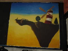 Windmill in the sky by minikozy92
