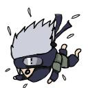 Falling Kakashi Chibi by manseyful