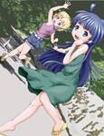 Rika and Satoko