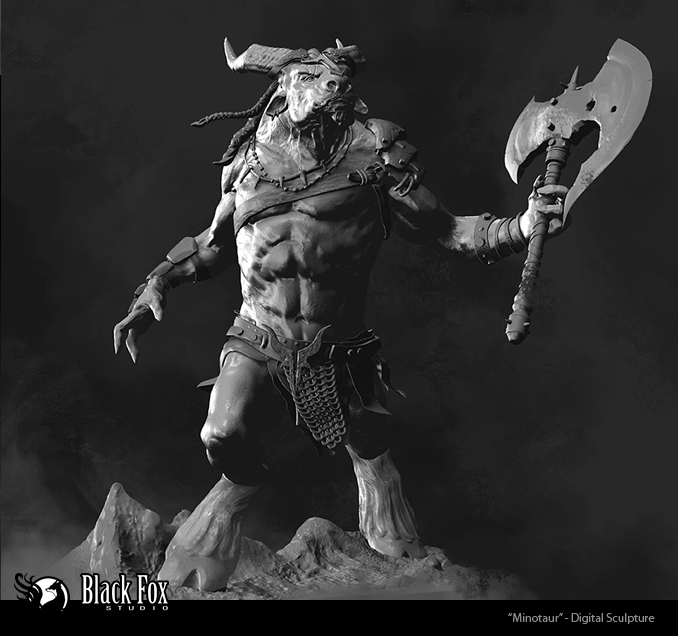 Minotaur by Blackfoxst