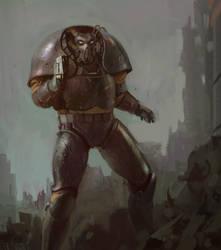 X01 advanced power armor by Obrotowy