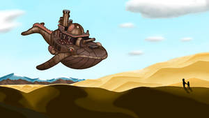 Iron Whale  in the Desert
