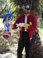 Dr. Eggman Cosplay 4 (Starring Sonic the Hedgehog) by linkinspirit95