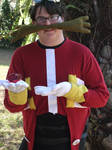 Dr. Eggman Cosplay 6 (with Red Chaos Emerald!)