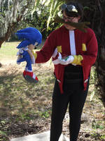 TAKE THAT SONIC!!! (Dr. Eggman Cosplay 7) by linkinspirit95