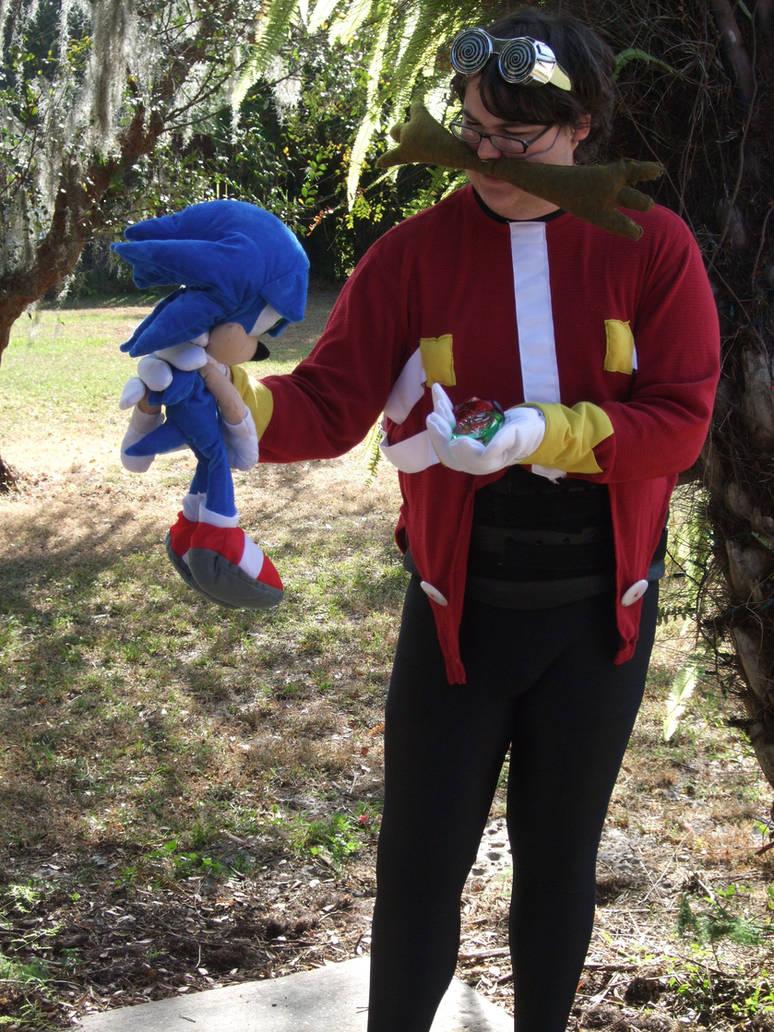 TAKE THAT SONIC!!! (Dr. Eggman Cosplay 7) by linkinspirit95