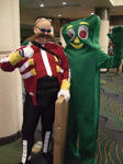 Meeting Gumby... okay...