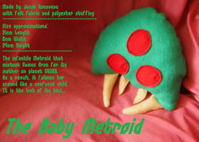 Baby Metroid Plushie [with description] by linkinspirit95