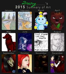 My Art Throughout 2015 by DeeryDeerth
