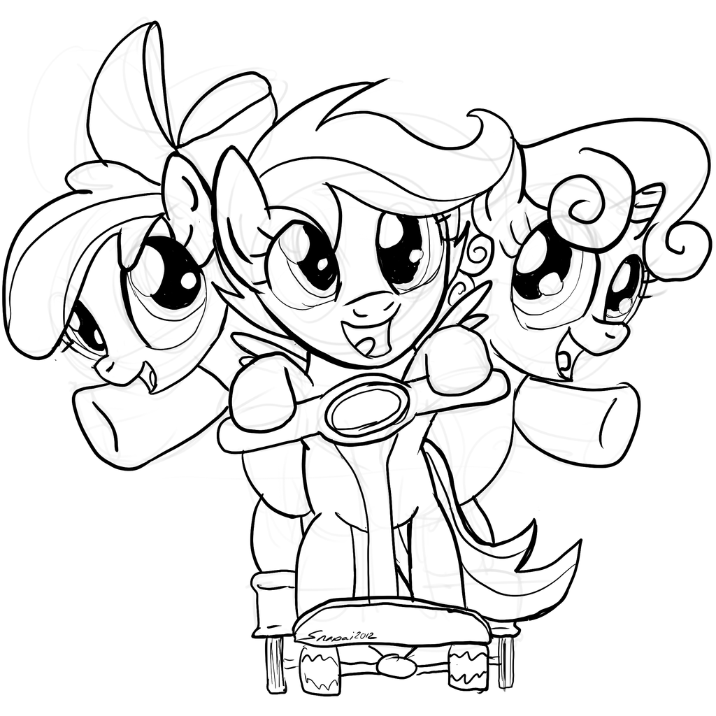 My Little Pony Coloring Pages Cutie Mark Crusaders : My little cutie beep by snapai on deviantart
