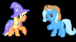 Applejack Trixie Costume-Swap by Snapai