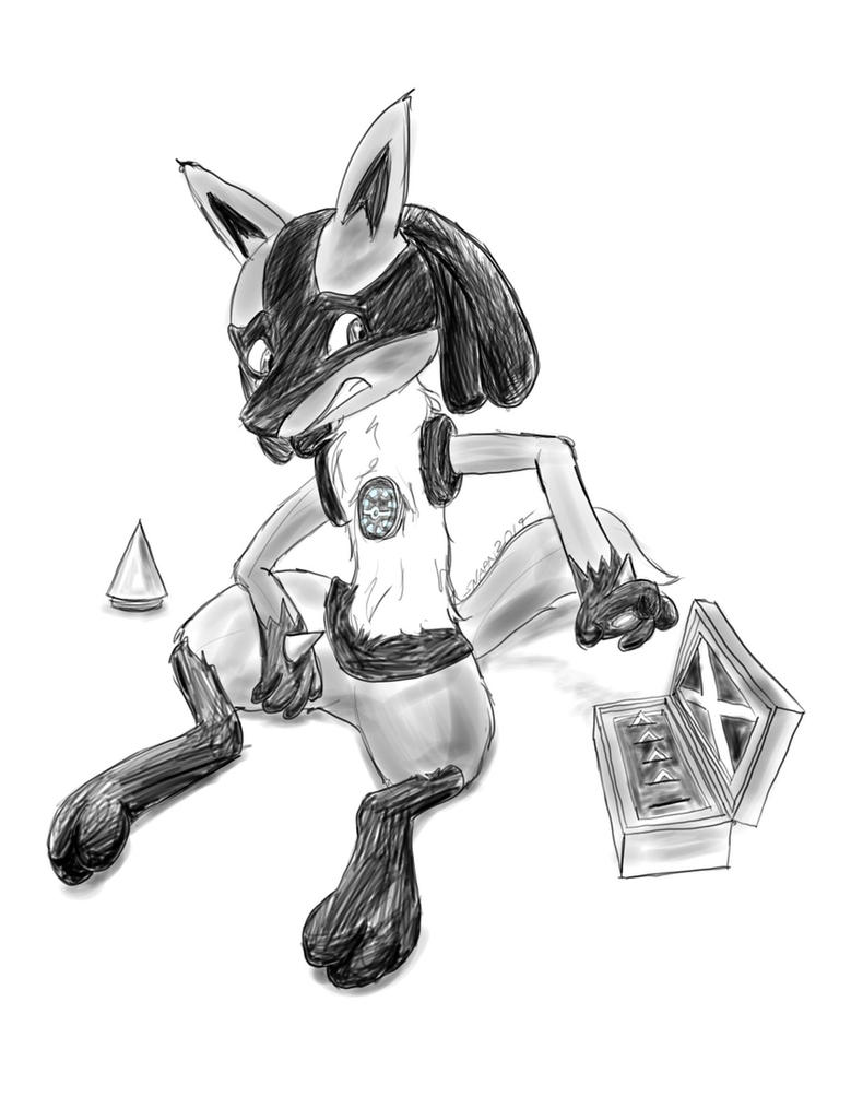 Lucario Needs A Recharge by Snapai