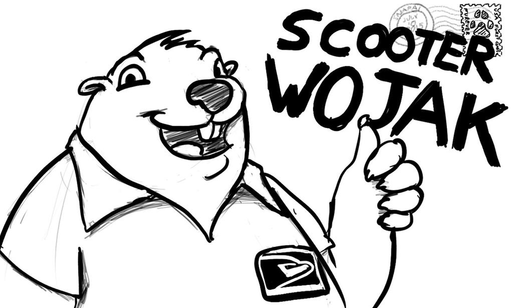 Sketch Commission - Scooter Badge by Snapai