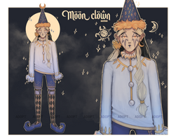 [OPEN] Adopt: auction | Moon clown by Sosiphia