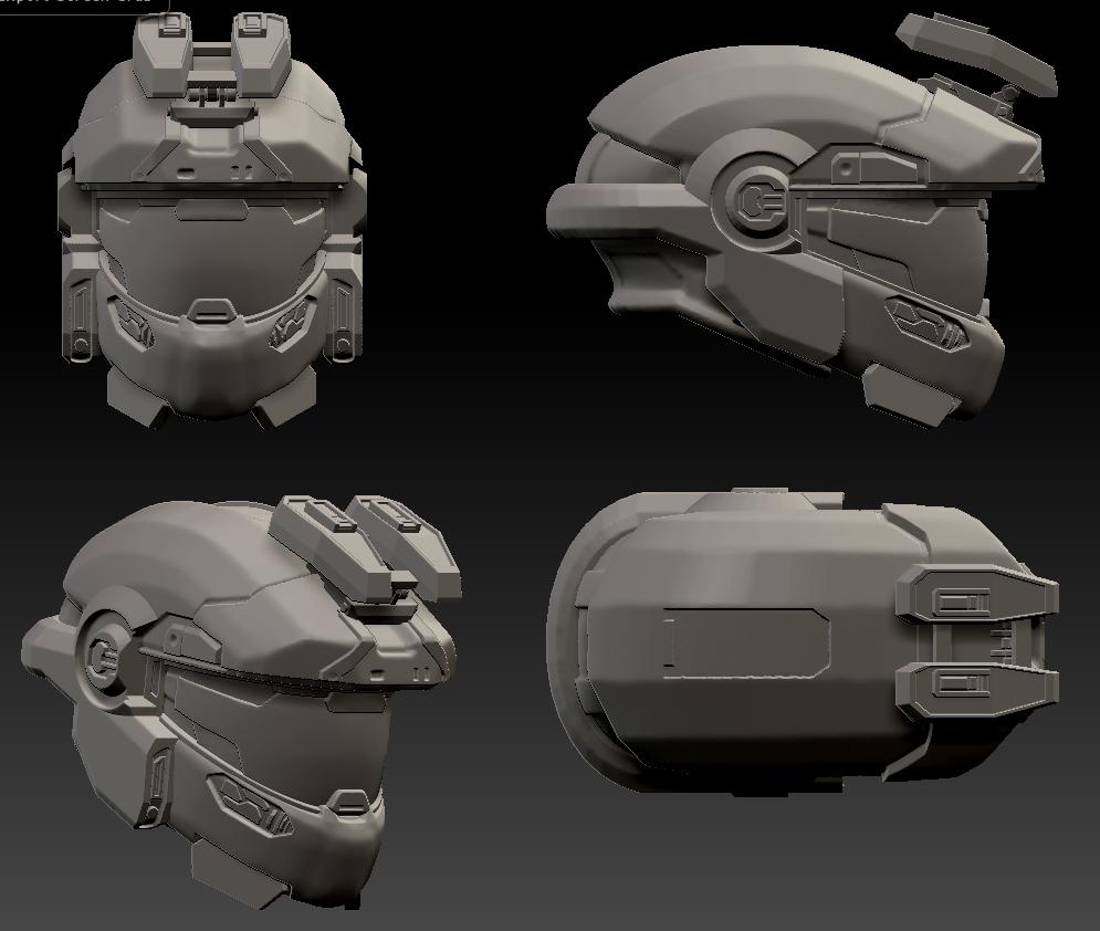 Halo Reach Helmet Jorge by vchuck62 on DeviantArt