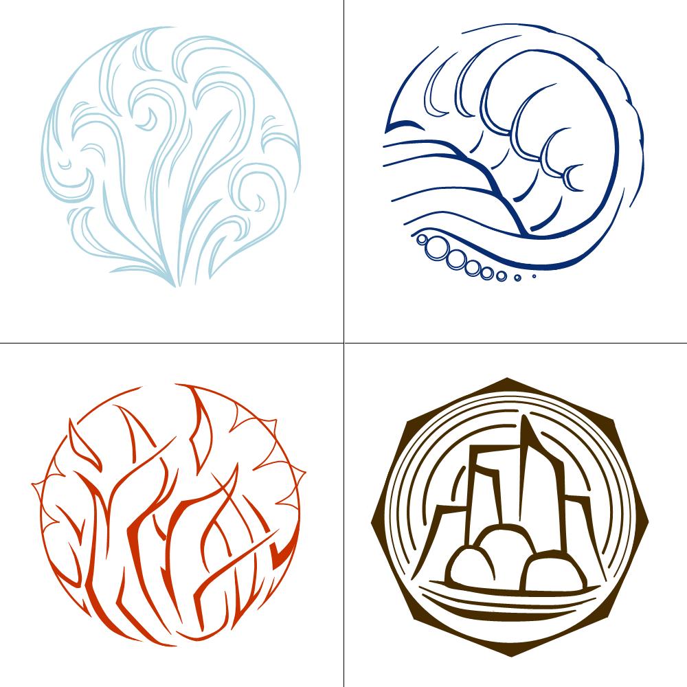 Elemental Symbols by KuroiTsukyoAlchemy Elemental Symbols