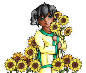 Sunflowers (10 year redraw) by lordbatsy