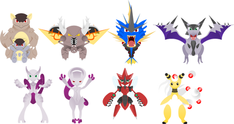 Moar Mega Pokemon by lordbatsy