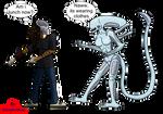 Gift Art: Alien Vs Predator?