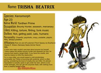 Trisha Beatrix The Xenomorph Ref Sheet by ChristoMan
